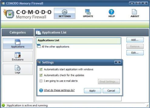 9..comodo memory firewall