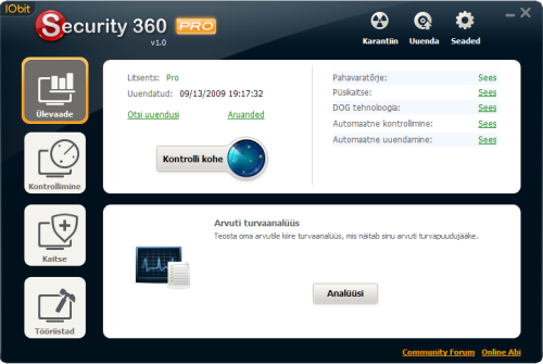 IObit Security 360 peaaken