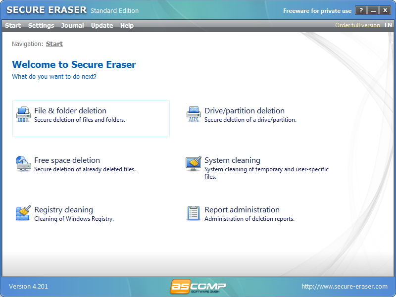1Secure erase files with Secure Eraser